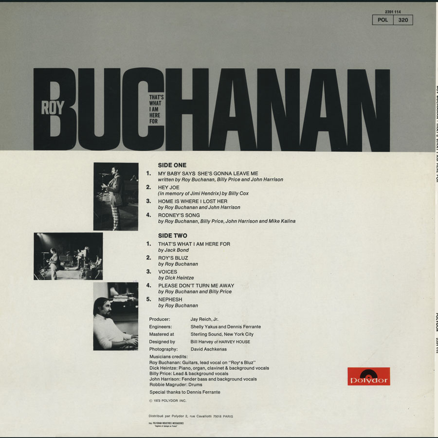roy buchanan lp that's what i am here for france back