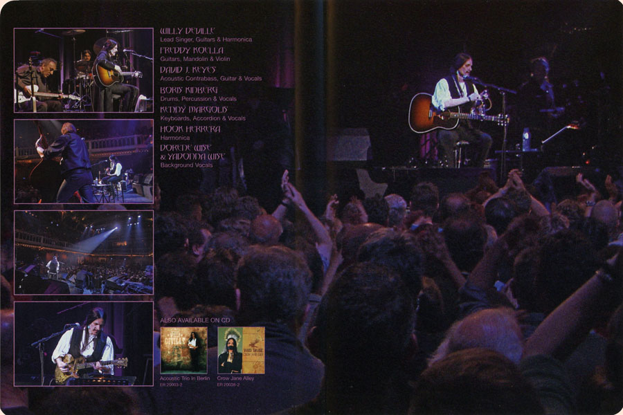 willy de ville dvd lowlands insert