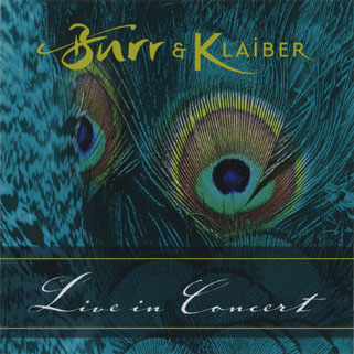 burr and klaiber live in concert front