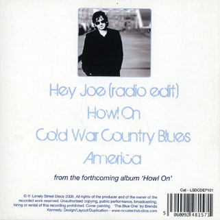 bap kennedy cd promo Hey joe front