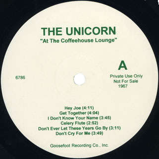 ultimate spinach unicorn lp side a