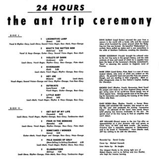 ant trip ceremony lp CRC 24 hours back