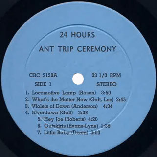 ant trip ceremony lp CRC 24 hours label 1