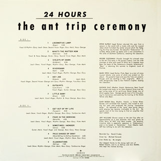 ant trip ceremony lp guerssen24 hours back cover