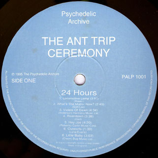 ant trip ceremony lp psychedelic archive label 1