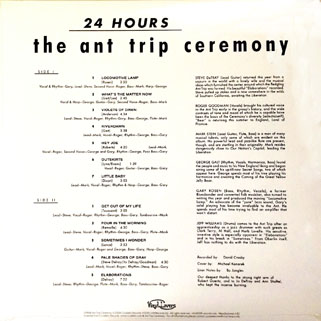 ant trip ceremony lp vinyl lovers 24 hours back cover