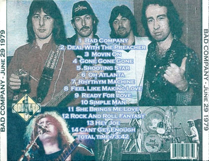 bad company landover june 29 1979 tray