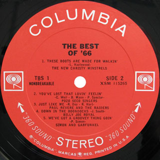 byrds lp the best of 66 label 2