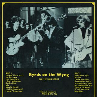 byrds on the wyng back cover