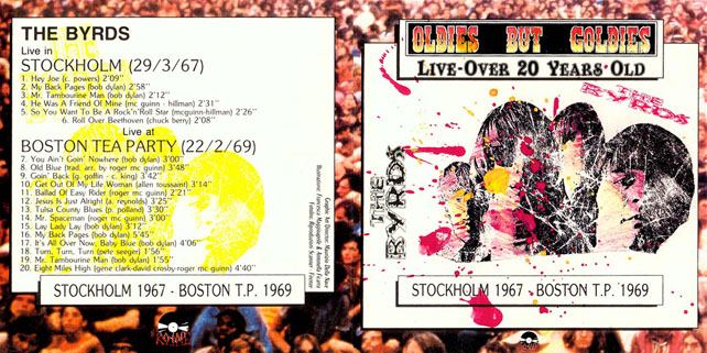 byrds cd stockholm 1967 Boston 1969 out