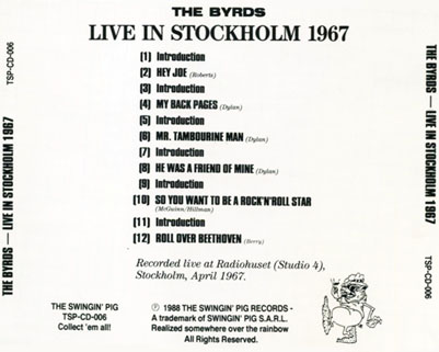 byrds cd swingin pig live in stockholm 1967tray