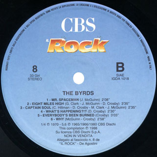 byrds lp cbs the byrds rock italy label 2