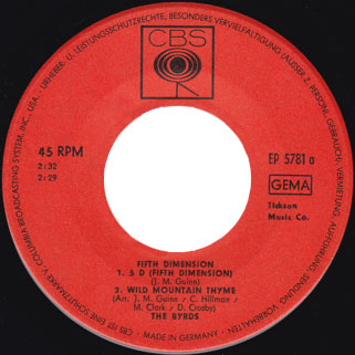 byrds ep fifth dimension label 1