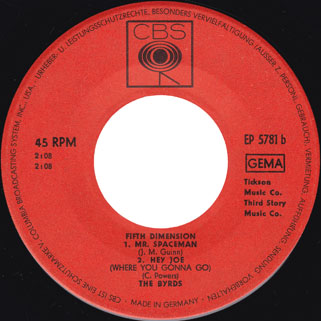 byrds ep fifth dimension label 2