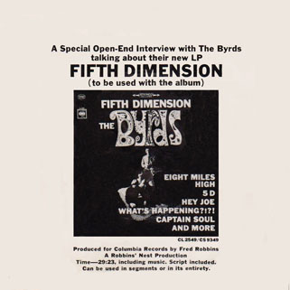 byrds interview about the lp fifth dimension front