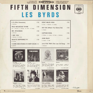 byrds lp fifth dimension cbs france back