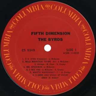 byrds lp fifth dimension columbia usa label 1