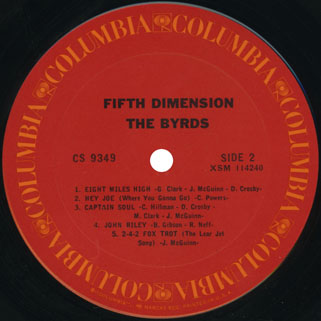 byrds lp fifth dimension columbia usa label 2