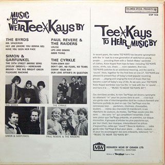 byrds lp music to wear tee kays by back