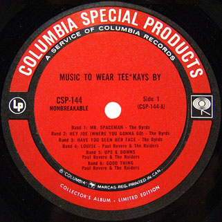 byrds lp music to wear tee kays by label 1