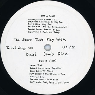 godz lp various the stars that play with jimi's dice label 1