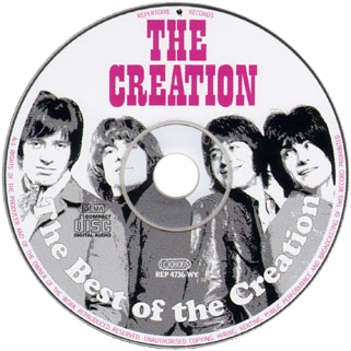 creaton the best of cd label