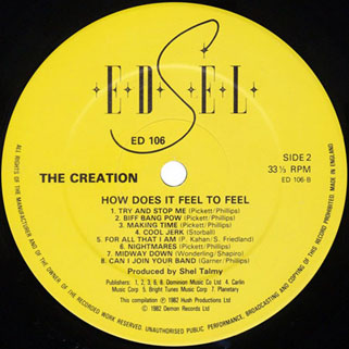 creation how does it fell to feel lp edsel label 2