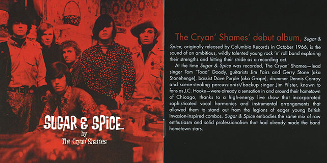 cryan' shames cd sugar and spice now sounds booklet 2