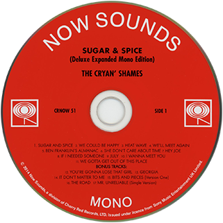cryan' shames cd sugar and spice now sounds label