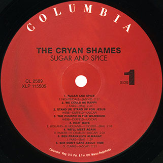 cryan' shames lp sugar and spice columbia usa 2006 mono label 1