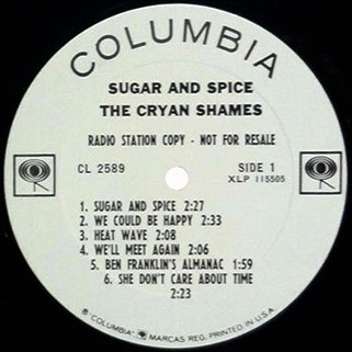 cryan' shames lp sugar and spice columbia mono promo label 1