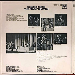 cryan' shames lp sugar and spice columbia usa stereo unknow publication back