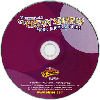 cryan' shames cd the best of more sugar and spice collectables label