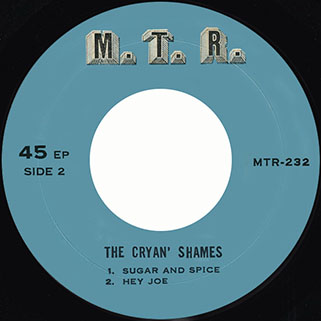 cryan's shames ep the monkees / sugar and spice mtr 232 thailand label 2