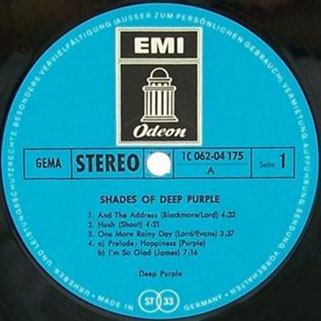 deep purple lp shades of germany label 1