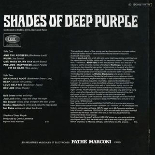 deep purple lp shades of france back cover