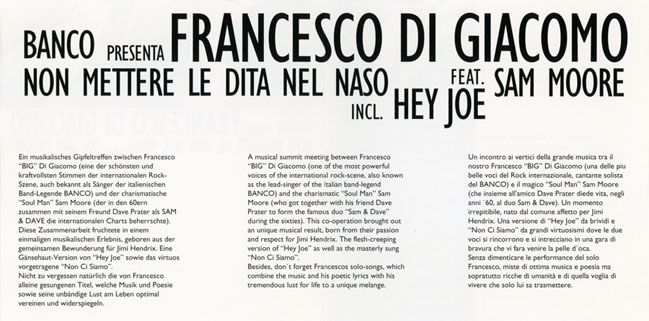 francesco di giacomo german cd non mettere sleeve in