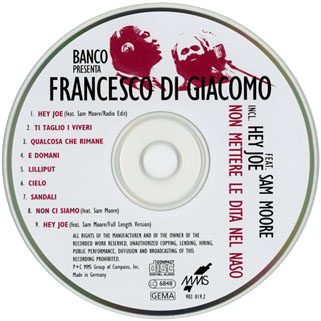 francesco di giacomo german cd non mettere label
