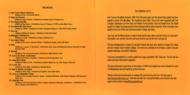 friar tucks and the monks cd are coming booklet 2 3