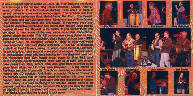 friar tucks and the monks cd music machine cover in