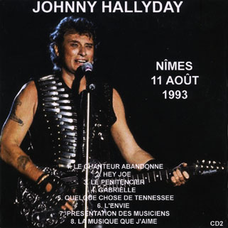 johnny nimes 11 aout 1993 back