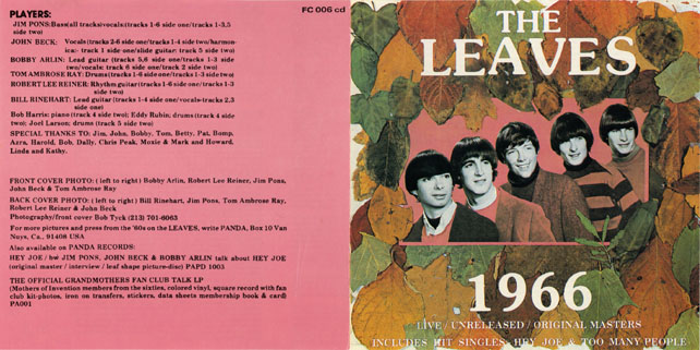 leaves cd leaves 1966 cover on