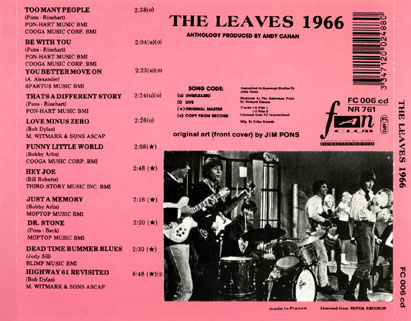 leaves cd leaves 1966 tray