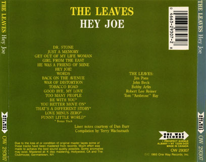 leaves cd hey joe one way tray