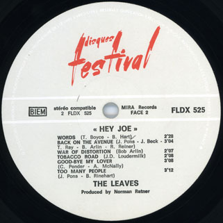 leaves lp  hey joe festival label 2