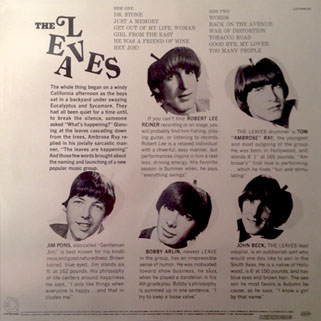 leaves lp hey joe label line back