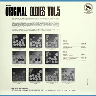 leaves lp original oldies volume 5 back