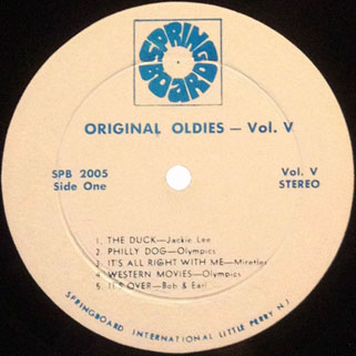 leaves lp original oldies volume 5 label 1