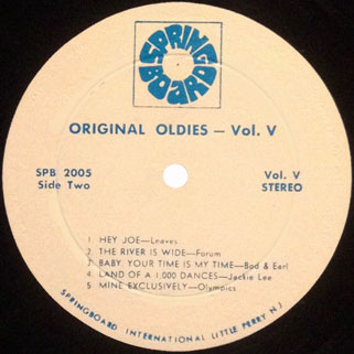 leaves lp original oldies volume 5 label 2