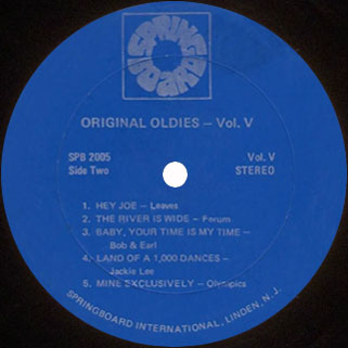 leaves lp original oldies volume 5 label 2 blue